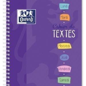 Livraison à domicile de Cahier de textes Oxford Classique reliure intégrale 17x22cm 148 pages réglure cahier de textes Chez Rentrée facile