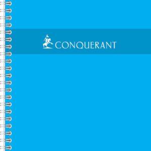Livraison à domicile de Conquerant Sept Cahier reliure spirale Grands carreaux 17 x 22 cm 100 pages 70 g Chez Rentrée facile