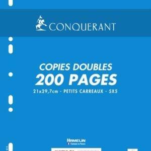 Livraison à domicile de Copies Doubles Conquerant 7 Perfore A4 Film 200P 70G Q5/5 Chez Rentrée facile