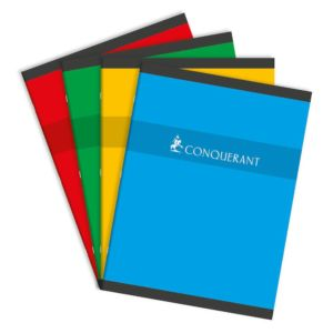 Livraison à domicile de Conquérant Sept Cahier reliure piqûre avec petits carreaux 24 x 32 cm 96 pages Assortis Chez Rentrée facile