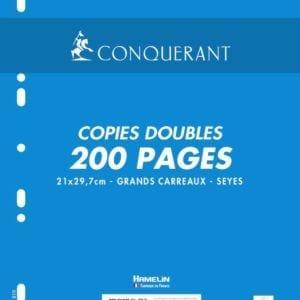 Livraison à domicile de Conquerant Sept Copies doubles perforées blanches 21x29