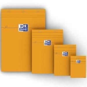 Livraison à domicile de Oxford Bloc-Notes Orange  A5  Couverture Enduite  Agrafé  Petits carreaux 5x5  160 Pages  Compatible SCRIBZEE ®  Orange Chez Rentrée facile