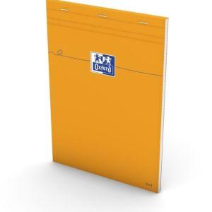 Livraison à domicile de Oxford Bloc-Notes Orange A4  Couverture Enduite  Agrafé  Petits carreaux 5x5  160 Pages   Orange Chez Rentrée facile