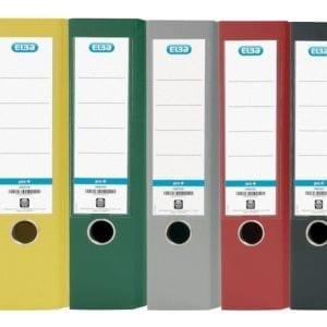 Livraison à domicile de Classeur À Levier Elba Smart A4 Dos 80mm Polypro Assorti 7 Couleurs Chez Rentrée facile