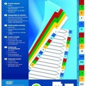 Livraison à domicile de Intercalaires Alphabétiques Elba Format : A4 20 Positions Pp 12/100 Assorti Chez Rentrée facile