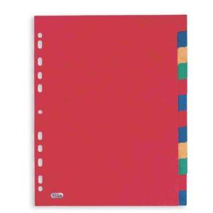 Livraison à domicile de Intercalaires Neutres Elba Format : A4+ 12 Positions Carte Lustrée 225G Assorti Chez Rentrée facile