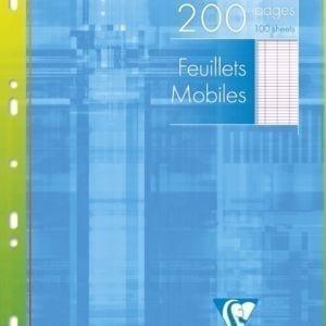 Livraison à domicile de Feuillets mobiles Clairefontaine A4 200 pages perforés grands carreaux (séyès) sous étui Chez Rentrée facile