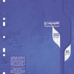 Livraison à domicile de Calligraphe7000 - 200 pages mobiles - A4 - blanc- Grands carreaux - perforé Chez Rentrée facile