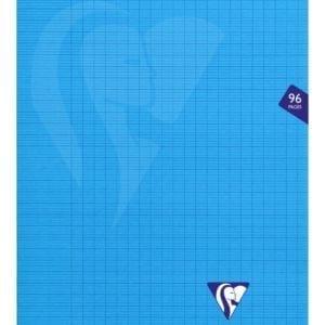 Livraison à domicile de Cahier piqûre Clairefontaine Mimesys couverture plastique A4 96 pages grands carreaux (séyès) Couleur aléatoire Chez Rentrée facile
