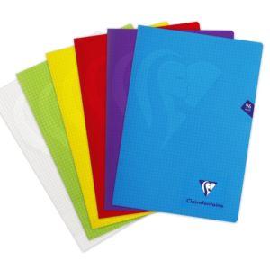 Livraison à domicile de Cahier piqûre Clairefontaine Mimesys couverture plastique A4 96 pages petits carreaux (5x5) Couleur aléatoire Chez Rentrée facile