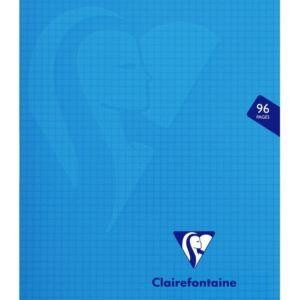Livraison à domicile de Cahier piqûre Clairefontaine Mimesys couverture plastique 17x22cm 96 pages petits carreaux (5x5) Couleur aléatoire Chez Rentrée facile