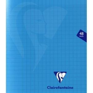 Livraison à domicile de Cahier piqûre Clairefontaine Mimesys couverture plastique 17x22cm 48 pages grands carreaux (séyès) Couleur aléatoire Chez Rentrée facile
