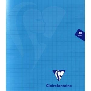 Livraison à domicile de Cahier piqûre Clairefontaine Mimesys couverture plastique 17x22cm 140 pages grands carreaux (séyès) Couleur aléatoire Chez Rentrée facile