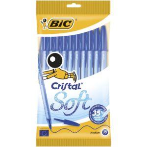 Livraison à domicile de BIC Cristal Soft Stylos Bleu x10 Chez Rentrée facile