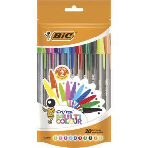 Livraison à domicile de BIC Cristal Multicolour Stylos x20 Chez Rentrée facile