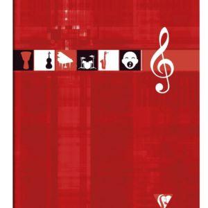 Livraison à domicile de Cahier Musique & Chant piqûre Clairefontaine A4 48 pages grands carreaux (séyès) Couleur aléatoire Chez Rentrée facile