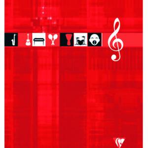 Livraison à domicile de Cahier Musique & Chant piqûre Clairefontaine 24x32cm 48 pages grands carreaux (séyès) Couleur aléatoire Chez Rentrée facile