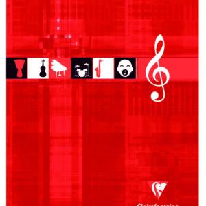 Livraison à domicile de Cahier Musique & Chant piqûre Clairefontaine 17x22cm 56 pages grands carreaux (séyès) Couleur aléatoire Chez Rentrée facile