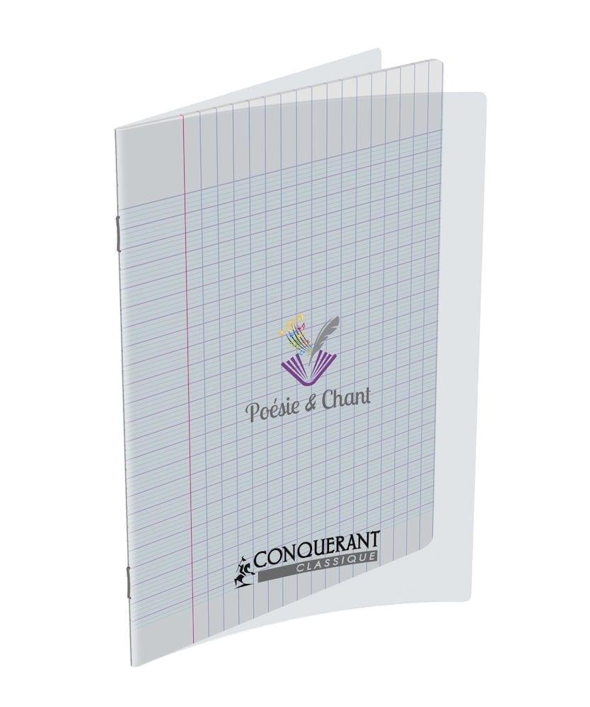 Livraison à domicile de Cahier Poesie Conquerant Classique Agrafe 17x22  48P 90G Sey Incolor Chez Rentrée facile