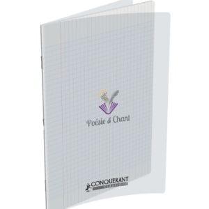 Livraison à domicile de Cahier Poesie Conquerant Classique Agrafe 24x32 48P 90G Sey Incolore Chez Rentrée facile