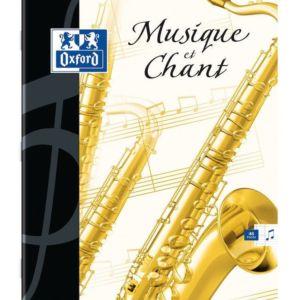 Livraison à domicile de Cahier Musique Oxford agrafé 17x22cm 48 pages réglure  Seyès + musique Chez Rentrée facile