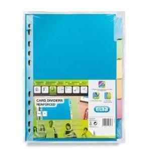 Livraison à domicile de Intercalaires Neutres Elba Color Life A4 6 Positions Carte 220G Assorti Chez Rentrée facile