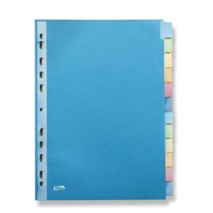 Livraison à domicile de Intercalaires Neutres Elba Color Life A4 12 Positions Carte 220G Assorti Chez Rentrée facile