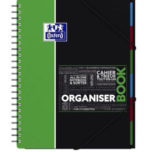 Livraison à domicile de Cahier Organiserbook Oxford Etudiants reliure intégrale A4+ 160 pages grands carreaux Seyès Chez Rentrée facile