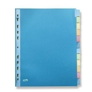 Livraison à domicile de Intercalaires Neutres Elba Color Life A4+ 12 Positions Carte lustrée 220G Assorti Chez Rentrée facile