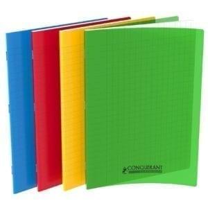 Livraison à domicile de cahier conquerant classique agrafe 24x32  48p 90g polypro assorti Chez Rentrée facile