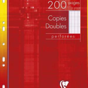 Livraison à domicile de Copies doubles Clairefontaine A4 200 pages perforées grands carreaux (séyès) sous étui Chez Rentrée facile
