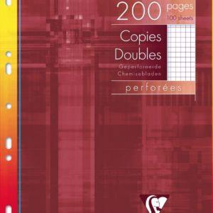 Livraison à domicile de Copies doubles Clairefontaine A4 200 pages perforées petits carreaux (5x5) avec marge sous étui Chez Rentrée facile