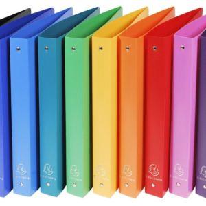 Livraison à domicile de Classeur 4 anneaux 30 mm polypropylène Opaque 10 couleurs assorties - A4 maxi Chez Rentrée facile