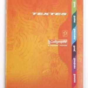 Livraison à domicile de CALLIGRAPHE 7000 - Cahier de texte piqûre 70g 17X22 120 pages grands carreaux Chez Rentrée facile