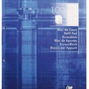 Livraison à domicile de Bloc de cours encollé Clairefontaine A4 200 pages détachables perforé 4 trous petits carreaux (5x5) Bleu Chez Rentrée facile