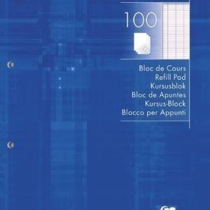 Livraison à domicile de Bloc de cours encollé Clairefontaine A4 200 pages détachables perforé 4 trous grands carreaux (séyès) Bleu Chez Rentrée facile
