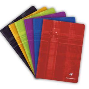 Livraison à domicile de Cahier piqûre Clairefontaine A4 96 pages petits carreaux (5x5) avec marge Couleur aléatoire Chez Rentrée facile