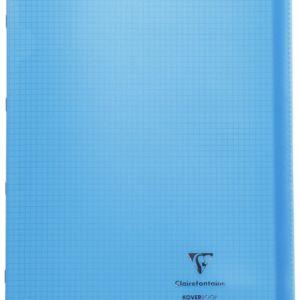 Livraison à domicile de Cahier piqûre Clairefontaine Koverbook couverture plastique 24x32cm 96 pages petits carreaux (5x5) Couleur aléatoire Chez Rentrée facile