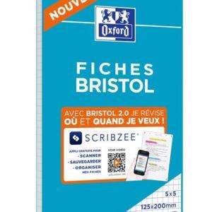 Bloc-de-30-fiches-Bristol-2-0-Oxford-125-x-200-mm
