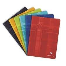 Présentation des différente couleurs de cahier Clairefontaine 17x22 sur rentree facile le site internet spécialiste des fournitures scolaires pas cher