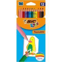 crayons de couleur bic tropicolor x12