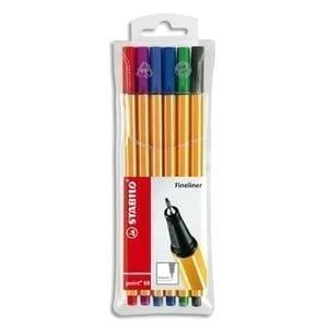Cette pochette de 6 stylo-feutres de couleurs différentes de la marque Stabilo vous permet une écriture, des dessins fins et un confort grâce à sa forme hexagonal. Livraison à domicile de Chez Rentrée facile.