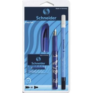 SCHNEIDER-Set-stylo-plume-Easy-bleu-et-5-cartouches-standards-encre-bleu
