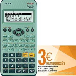calculatrice fx92+ spéciale collège