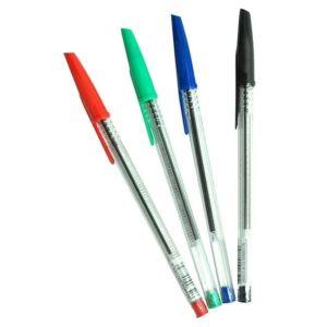 ce stylo bille 5 étoiles est simple mais très utile il se vent de différent couleurs noirs vert rouge ou bleu et se vent seul