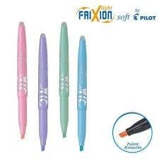 Le surligneurs effaçables pilot frixion light soft est un incontournable de la fourniture scolaire, il est décliné en plusieurs couleurs