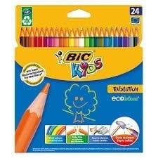 Les crayons de couleurs BIC KIDS Evolutions sont des crayons d'excellente qualité. Ici décliné en 24 couleurs ils représentent un incontournable de la fourniture scolaires.