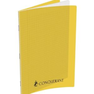 CAHIER CONQUERANT CLASSIQUE AGRAFE 210X297 96P 90G SEYES INCOLORE PP