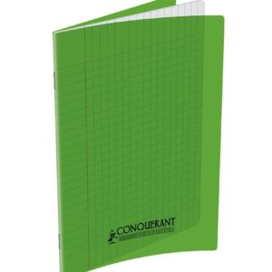 CAHIER CONQUERANT CLASSIQUE AGRAFE 170X220 96P 90G SEYES VERT PP