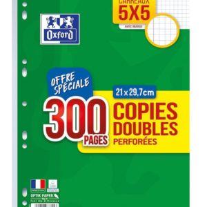 Lot de copies doubles Oxford petits carreaux sur rentree facile le site des fournitures scolaires pas cher en lot